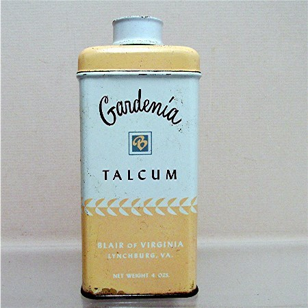 Advertising Tin For Gardenia Talc