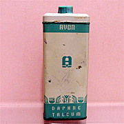 Advertising Avon Talc Tin Daphne Talcum Powder 50% OFF
