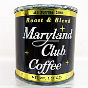 Advertising Coffee Tin  MARYLAND CLUB Sample