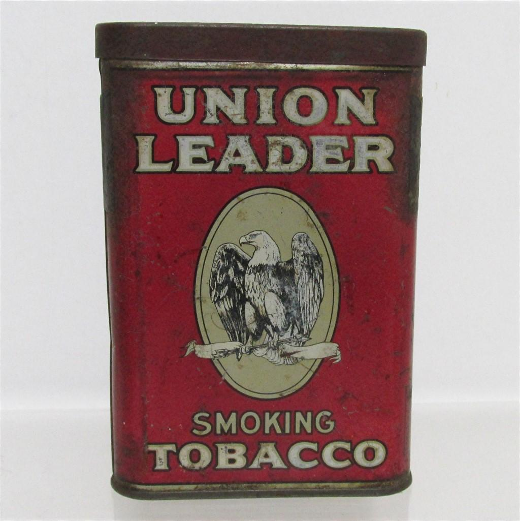 Union Leader Advertising Tobacco Pocket Tin
