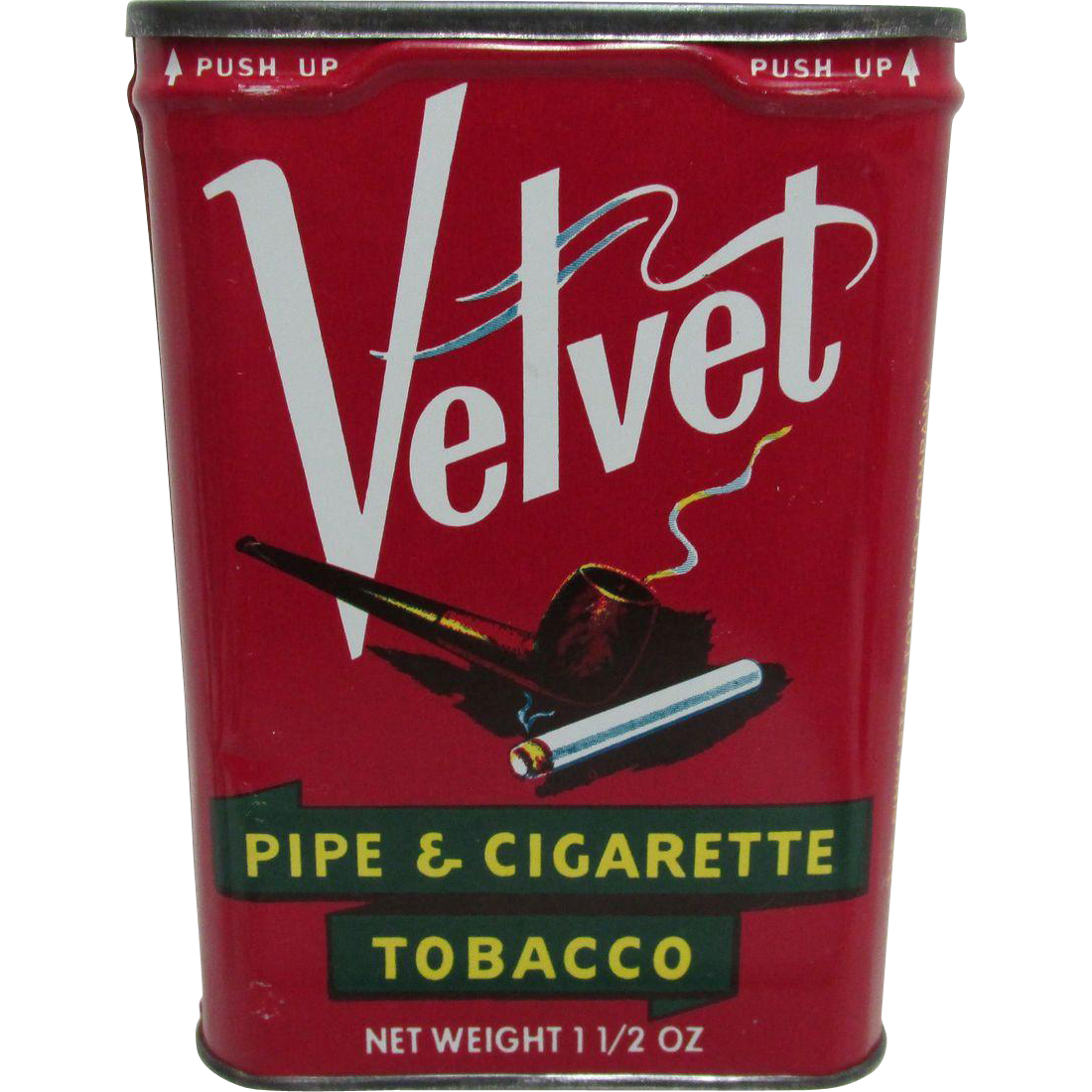 Velvet Pipe and Cigarette Tobacco Pocket Tins $18 each