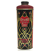 Olivilo Velvety Advertising Talc Tin From Chicago Talcum Powder 50% OFF
