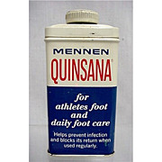 SOLD   See Three others we have for sale                Advertising Mennen Quinsana Foot Powder Tin