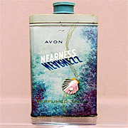 Advertising Tin for AVON Nearness Talc 50% OFF