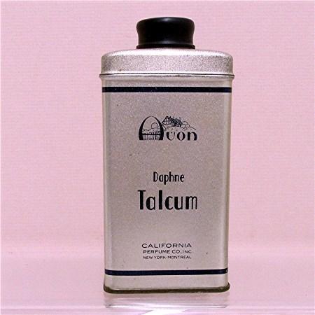 Advertising Tin for Avon Dophne Talcum 50% OFF