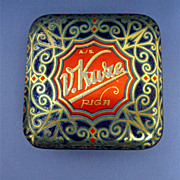 Candy Tin Art Nouveau and Gold Leaf Decoration
