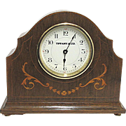 Inlaid French Antique Mantel Clock Runs and Keeps Time