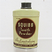 Squibb Tooth Powder Antique Drugstore or Pharmacy item