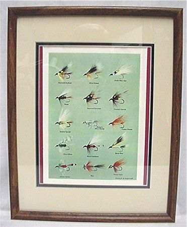 SOLD  Framed Print of E. H. Rosborough Tied Flies 50% OFF