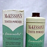 McKessons Tooth Powder Advertising Drugstore Tin Last One  BARGAIN PRICED