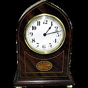 Antique Inlaid Swiss Clock Retailed By Elliott