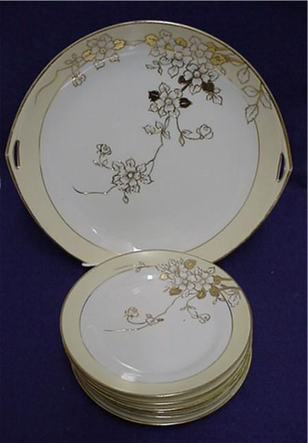 SOLD     Nippon Cake Set Porcelain Service for 6***Selling at Cost
