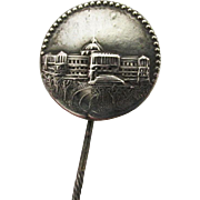 Silver Souvenir Antique Stickpin, Scarf, Cravat, Ascot or Tie