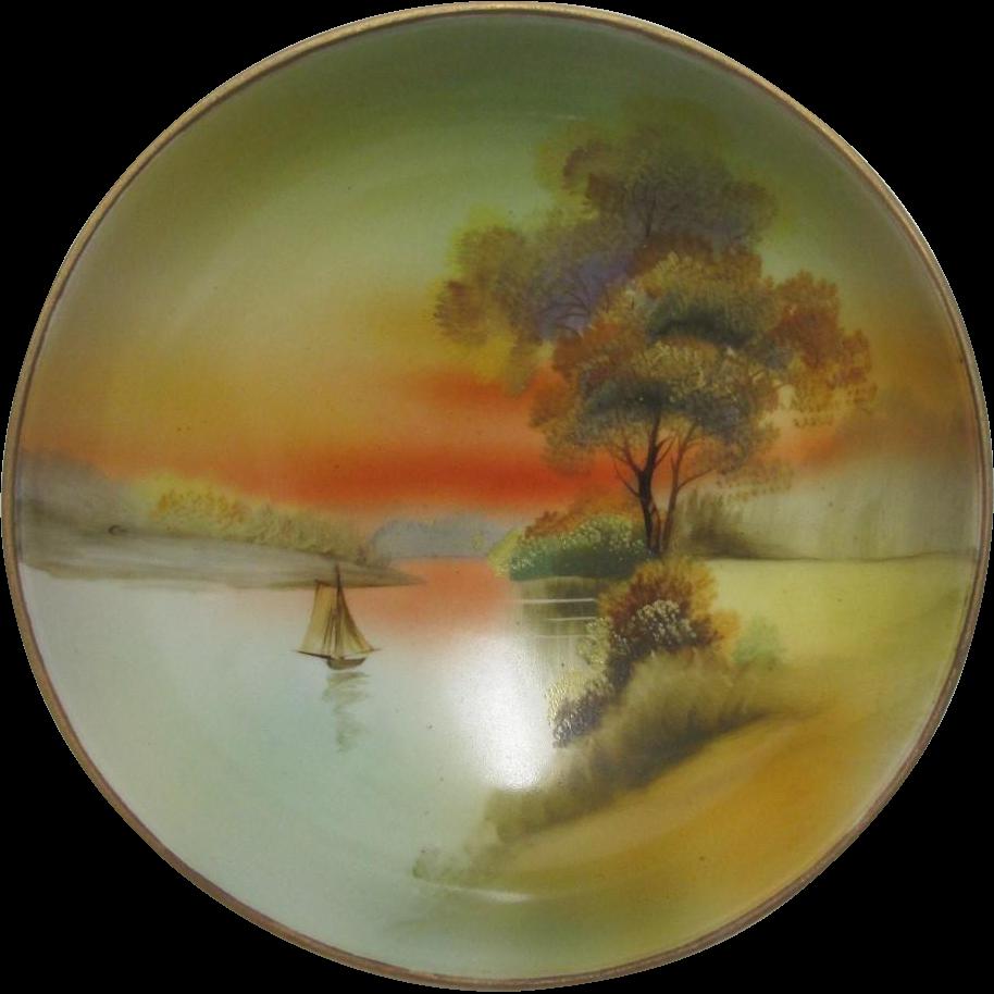 Noritake Scenic Dish Hand Painted