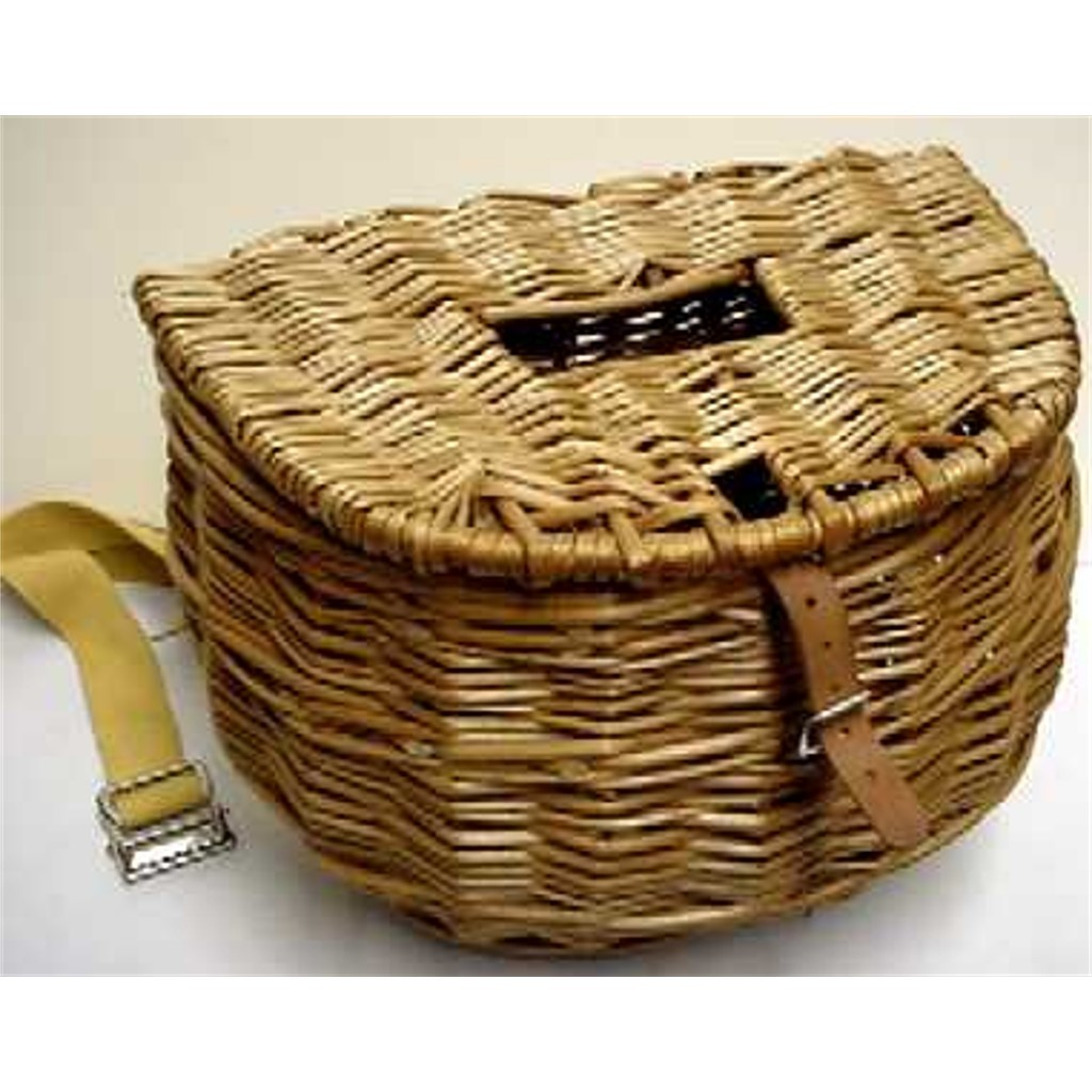 Center hole fly fishing creel or fishing basket drury for Fly fishing creel