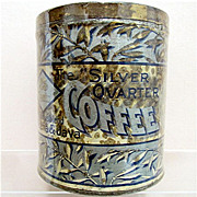 Silver Quarter Coffee Advertising tin