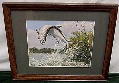Jumping Tarpon Maynard Reece Framed Print in Color 50% Off
