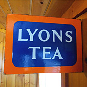 Lyons Tea Porcelain Sign Double Sided