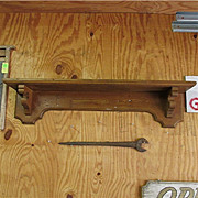 "Country American Grain Painted Shelf 42"" Long"
