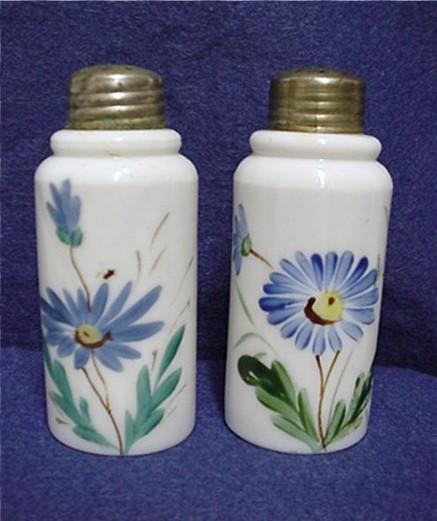 Salt and Pepper Shaker Set American Opalware Glass
