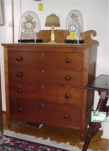 Solid Cherry Chest of Drawers Circa 1835 Dresser