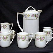 Coffee Set Nippon Porcelain Service for Six    ***Selling at Cost
