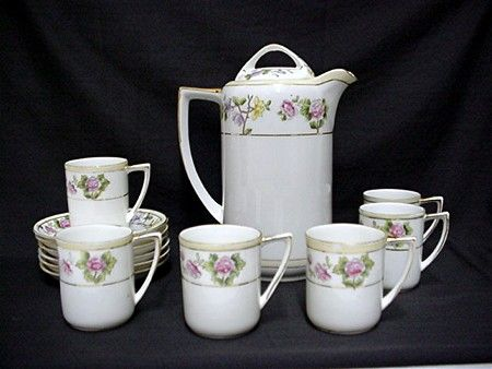 Coffee Set Nippon Porcelain Service for Six