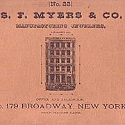S. F. Myers & Co. Manufacturing Jewelers Watch Catalog