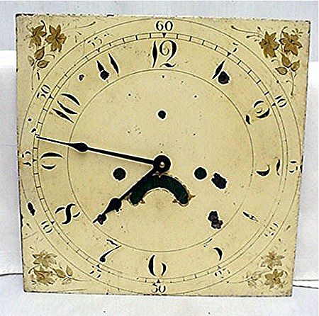 18th Century English Grandfather Clock Dial
