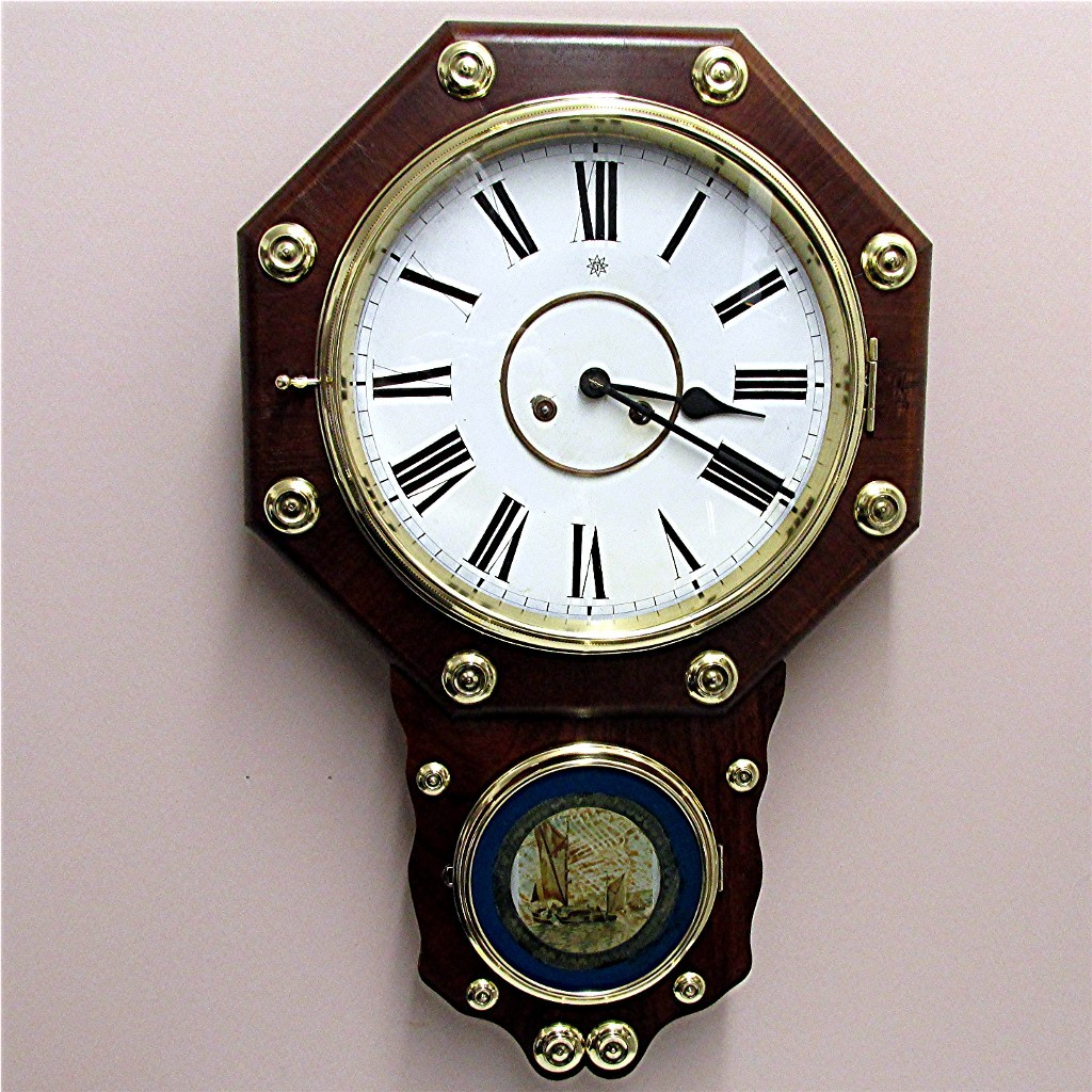 SOLD Antique Rosewood Chiming Wall Clock  Fully Restored 100% Original