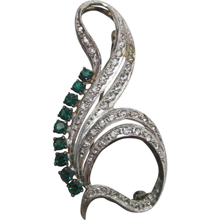 Pin or Brooch in Silver Art Nouveau