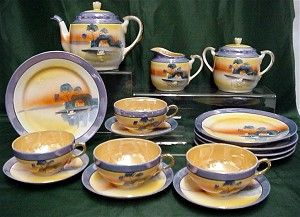 Lusterware Porcelain  Luncheon or Dessert Set Service for 4     ***Selling at Cost