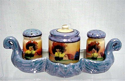 Lusterware Condiment Set Complete