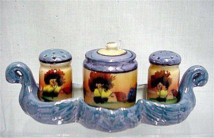 Lusterware Condiment Set Complete