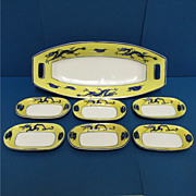 Nippon Porcelain Relish Set Service for 6   ***Selling at Cost