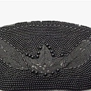 Hand Bag Black Beaded Clutch Purse