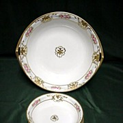 Berry Set Nippon Porcelain Master Bowl and 6 Servings