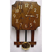 Misson Wall Clock Oak Arts and Craft Period