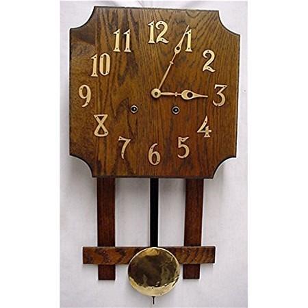 Misson wall clock oak arts and craft period drury house for Arts and crafts style wall clock