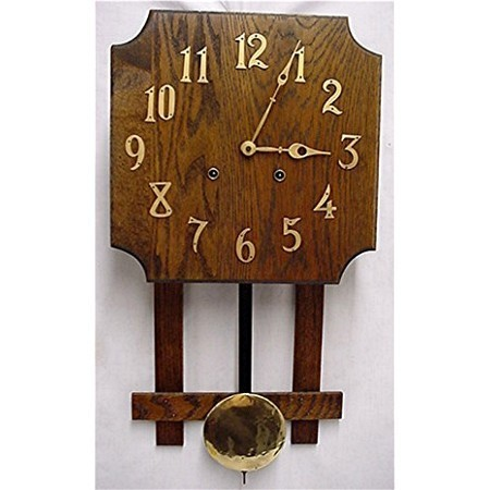 Misson Wall Clock Oak Arts and Craft Period