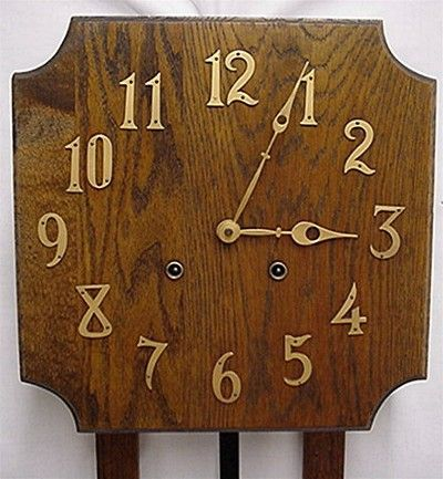 Misson wall clock oak arts and craft period from drury on for Arts and crafts style wall clock