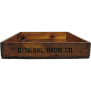 General Radio Co. Wood Advertising Box