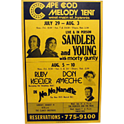 Cape Code Melody Theater Billboard No No Nanette and Sandler and Young Shows
