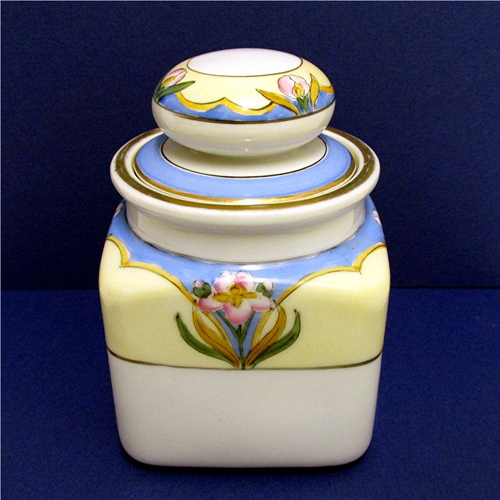 Humidor Noritake Porcelain Certified Mark Art Nouveau Hand Painted