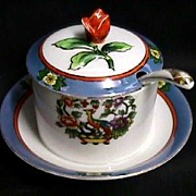 Luster Covered Jar Japanese Porcelain for Jelly, Candy or Jam   ***Selling at Cost