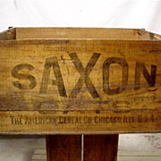 SOLD See Others That are Available Saxon Oats American Cereal Co. Wood Advertising Box
