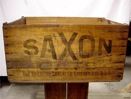 SAXON Oats American Cereal Co. Wood Advertising Box