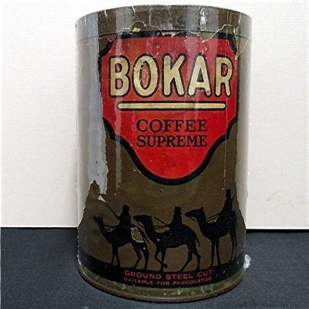 Advertising Coffee Tin Bokar