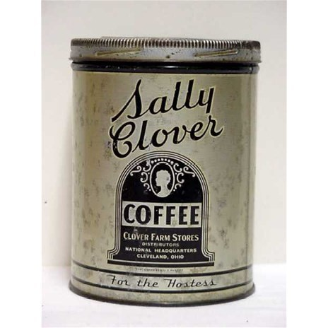 Advertising Coffee Tin For Sally Clover