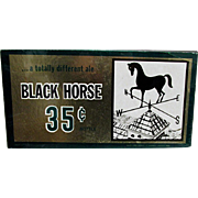 Black Horse Brewery Ale Advertising Beer Sign